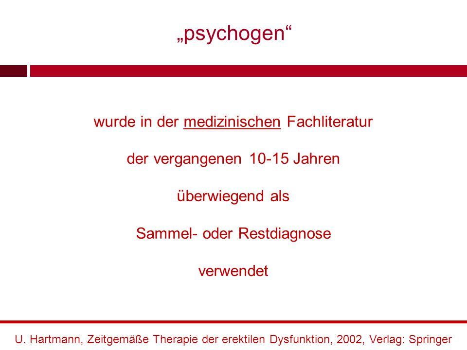 Eine allseits anerkannte, auf alle Symptombilder anwendbare Theorie der Psychogenese sexueller Funktionsstörungen liegt bis heute nicht vor.