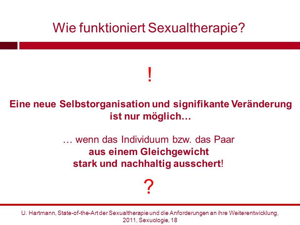 U. Hartmann, State-of-the-Art der Sexualtherapie und die Anforderungen an ihre Weiterentwicklung, 2011, Sexuologie, 18 Wie funktioniert Sexualtherapie