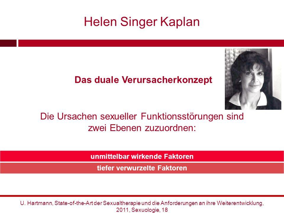 Das duale Verursacherkonzept Die Ursachen sexueller Funktionsstörungen sind zwei Ebenen zuzuordnen: Helen Singer Kaplan unmittelbar wirkende Faktoren