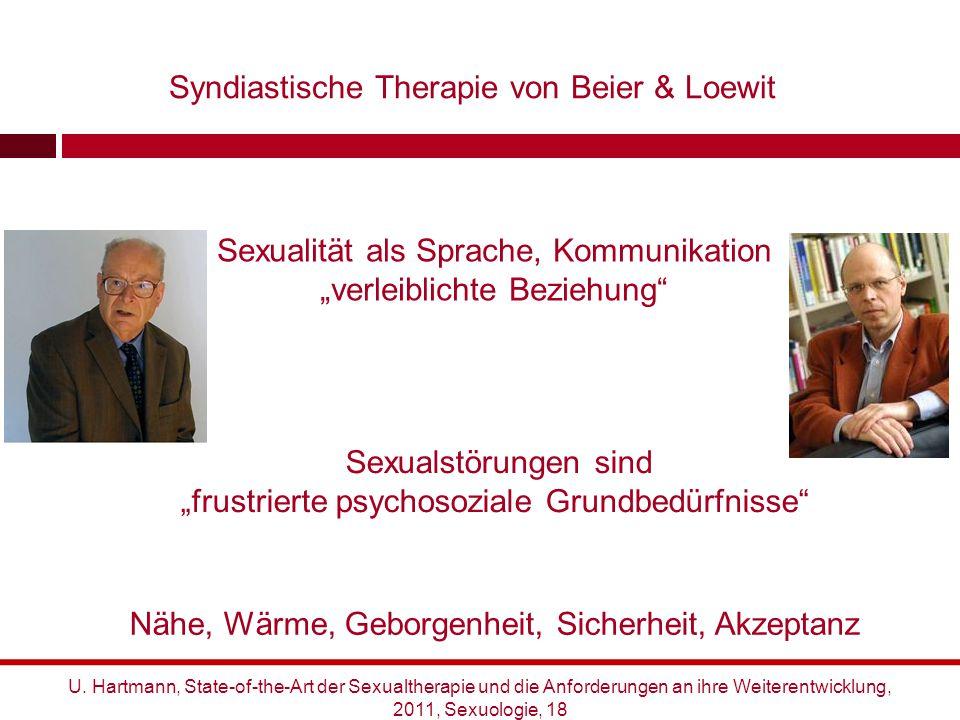 """Sexualität als Sprache, Kommunikation """"verleiblichte Beziehung"""" Sexualstörungen sind """"frustrierte psychosoziale Grundbedürfnisse"""" Nähe, Wärme, Geborge"""