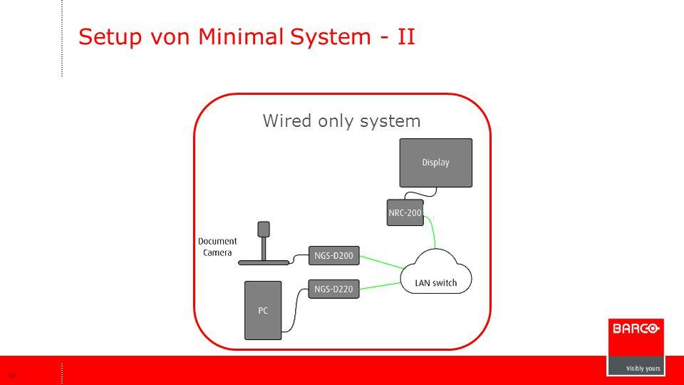 Setup von Minimal System - II Wired only system