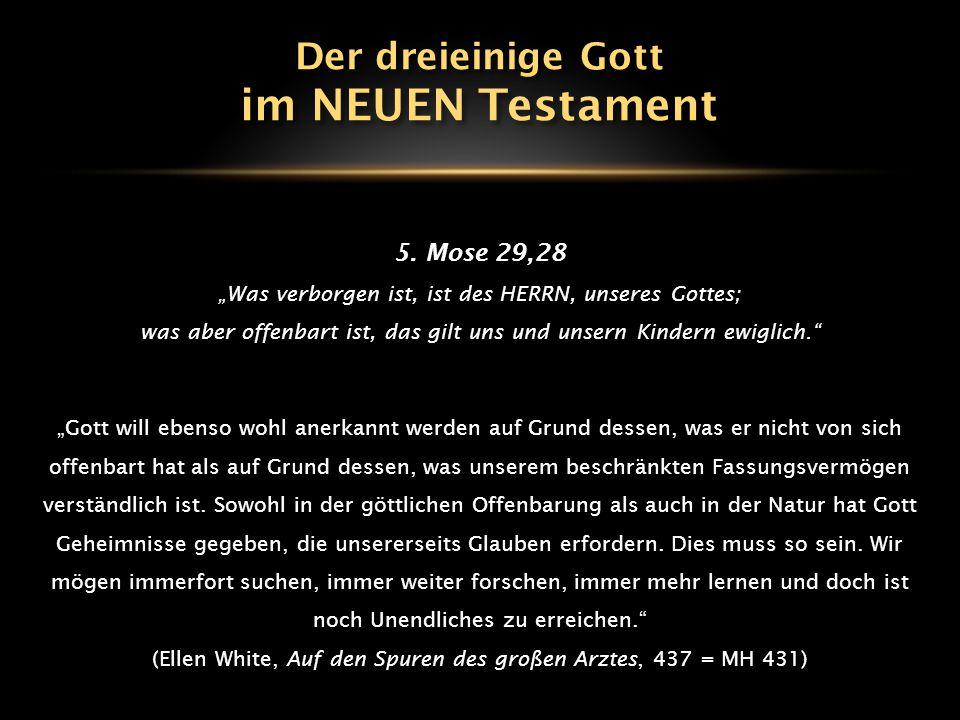 """5. Mose 29,28 """"Was verborgen ist, ist des HERRN, unseres Gottes; was aber offenbart ist, das gilt uns und unsern Kindern ewiglich."""" """"Gott will ebenso"""