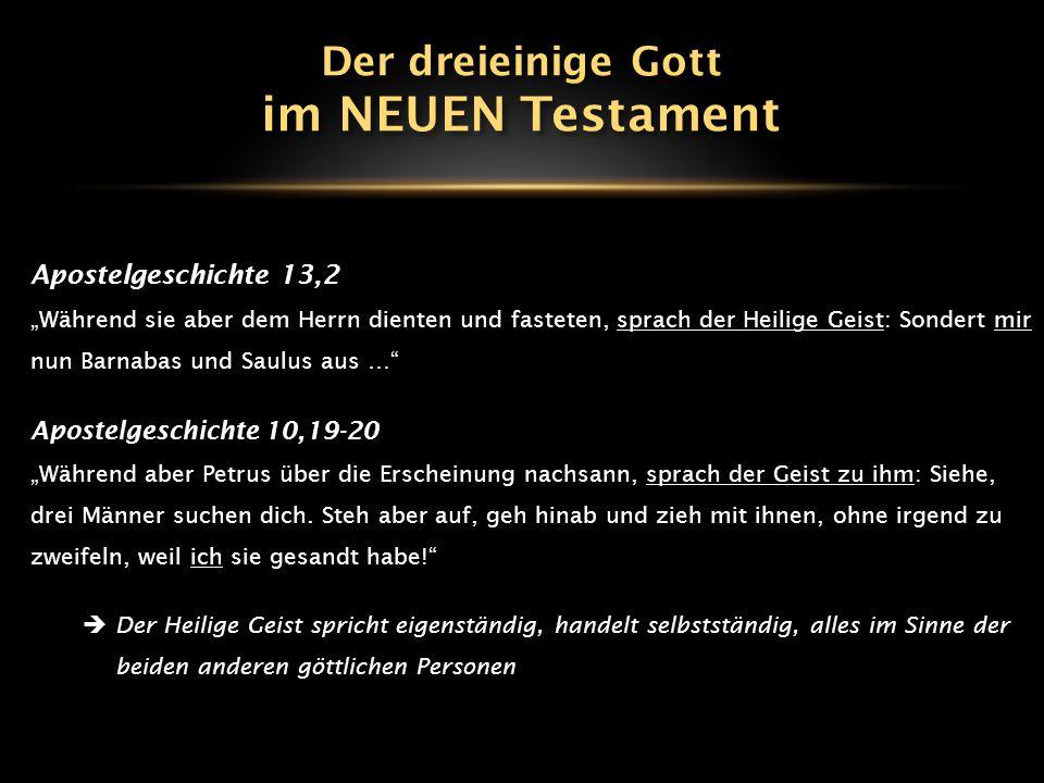"""Apostelgeschichte 13,2 """"Während sie aber dem Herrn dienten und fasteten, sprach der Heilige Geist: Sondert mir nun Barnabas und Saulus aus …"""" Apostelg"""