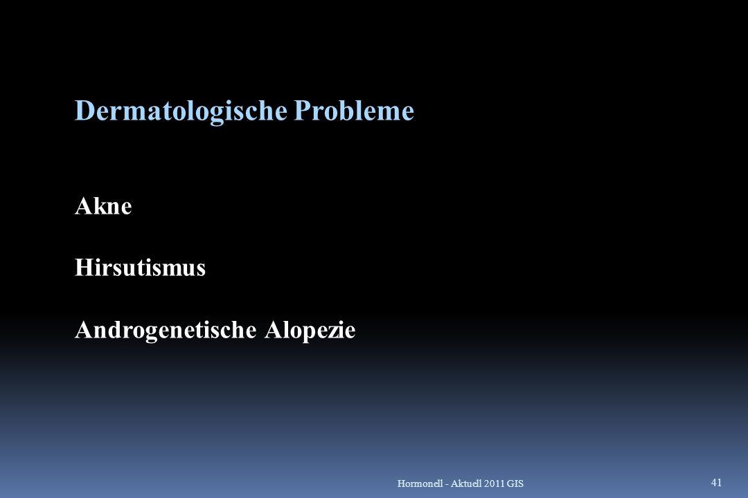 Dermatologische Probleme Akne Hirsutismus Androgenetische Alopezie 41 Hormonell - Aktuell 2011 GIS