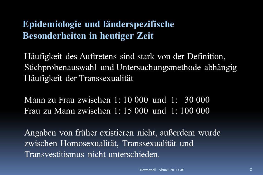 Häufigkeit der Transsexualität bzw.