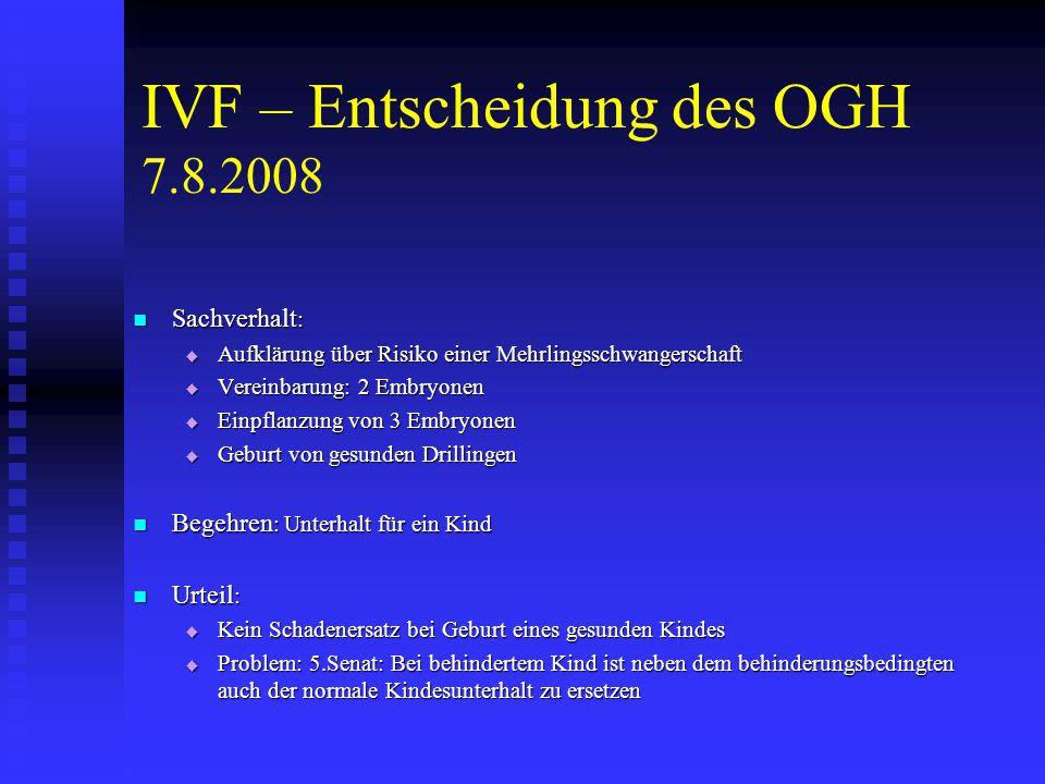 Ministerialentwurf - Österreich (2) Aus dem Umstand der Geburt eines Kindes können weder das Kind noch die Eltern noch andere Personen Schadenersatzansprüche geltend machen.