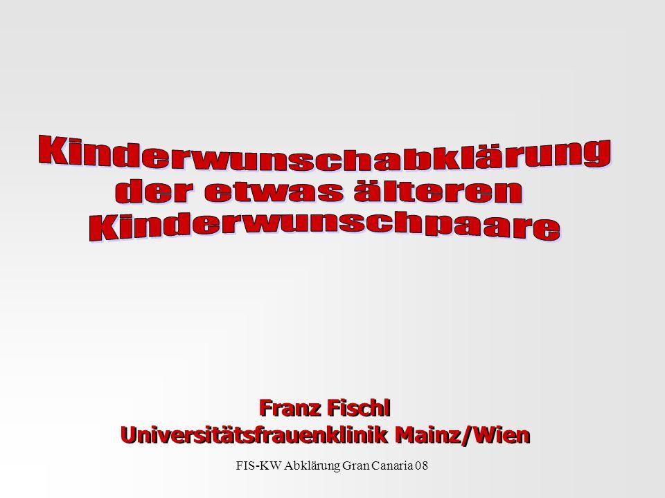 FIS-KW Abklärung Gran Canaria 08 Franz Fischl Universitätsfrauenklinik Mainz/Wien Franz Fischl Universitätsfrauenklinik Mainz/Wien
