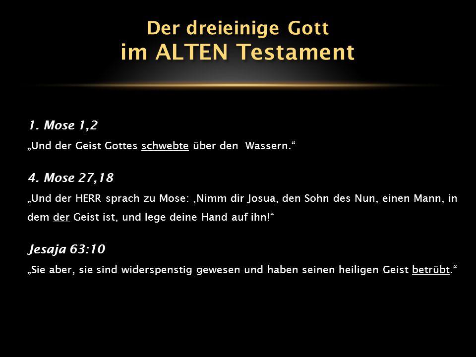 """1.Mose 1,2 """"Und der Geist Gottes schwebte über den Wassern. 4."""