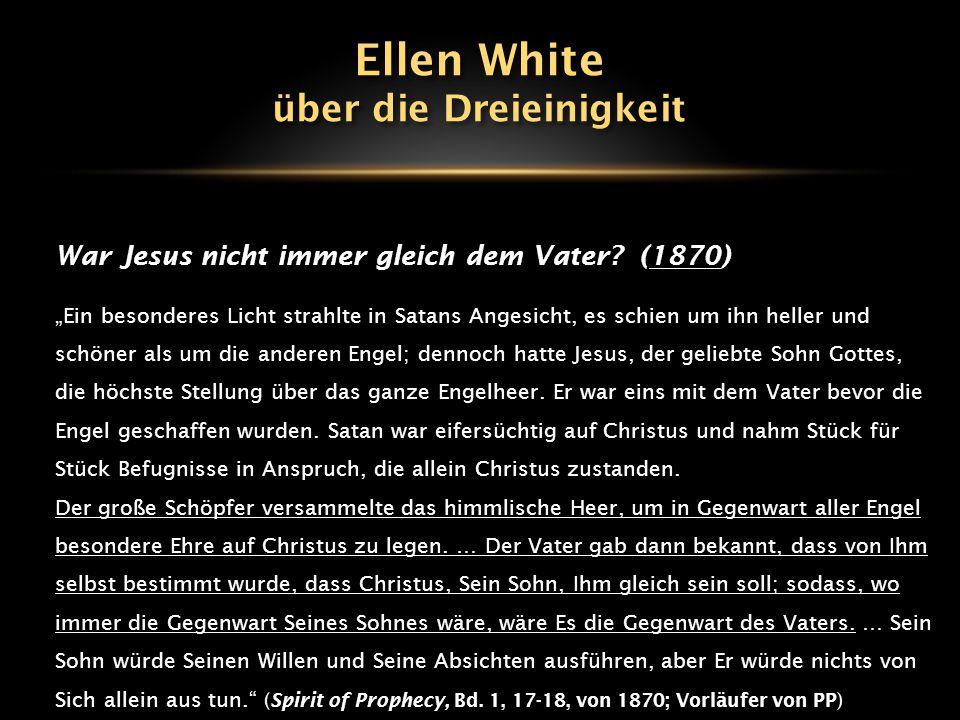 """DREI göttliche Personen: 1906 """"Der Vater ist die ganze Fülle der Gottheit leibhaftig und unsichtbar für das sterbliche Sehvermögen."""