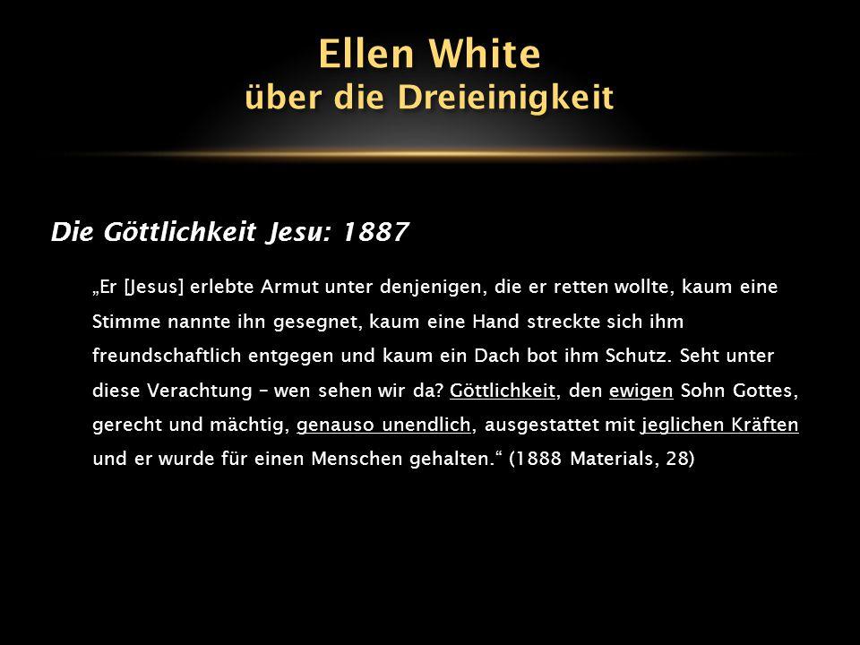 """Die Göttlichkeit Jesu: 1898 """"Nur Er, der eins mit Gott ist, konnte sagen: Ich habe Macht, Mein Leben zu lassen und habe Macht, es wieder zu nehmen."""