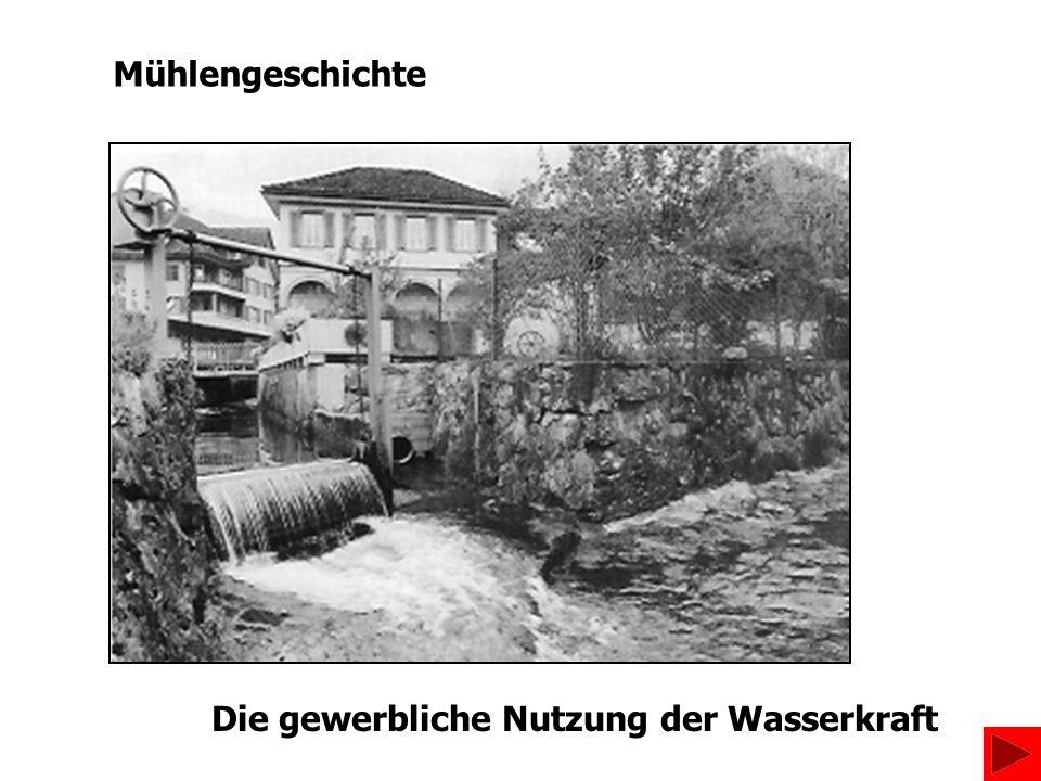 Die gewerbliche Nutzung der Wasserkraft Mühlengeschichte