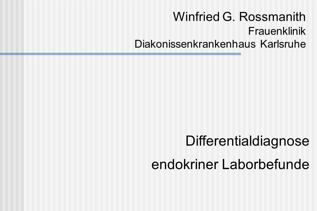 Differentialdiagnose: Hyperprolaktinämie Hypothalamische oder hypophysäre Erkrankungen Hypothalamische Fehlfunktionen: sek.