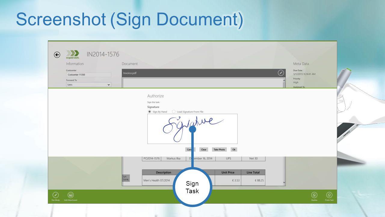 Sign Task