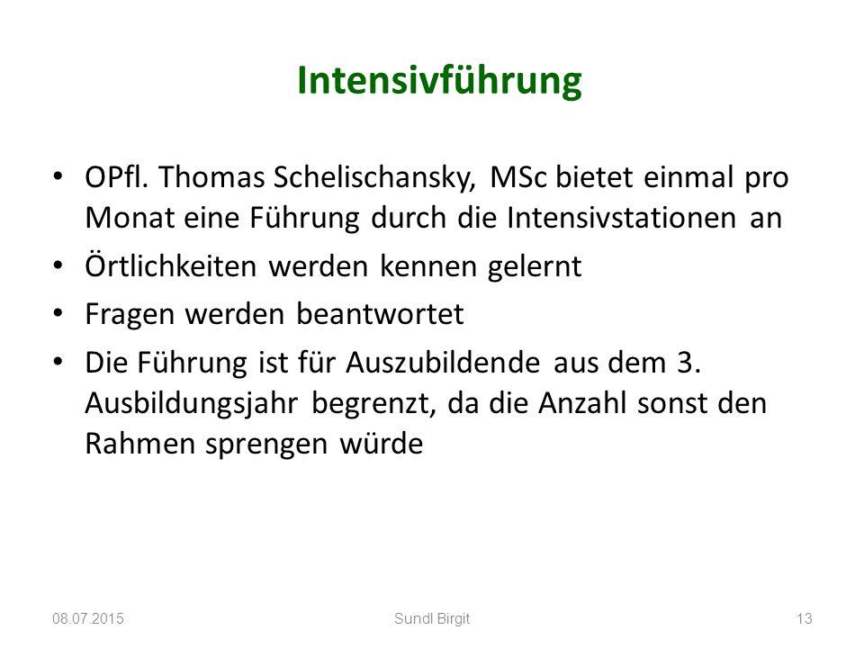 Intensivführung OPfl. Thomas Schelischansky, MSc bietet einmal pro Monat eine Führung durch die Intensivstationen an Örtlichkeiten werden kennen geler