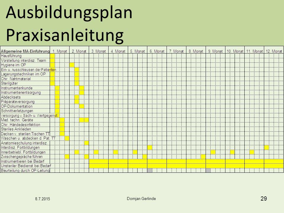 Ausbildungsplan Praxisanleitung 29 Domjan Gerlinde 8.7.2015