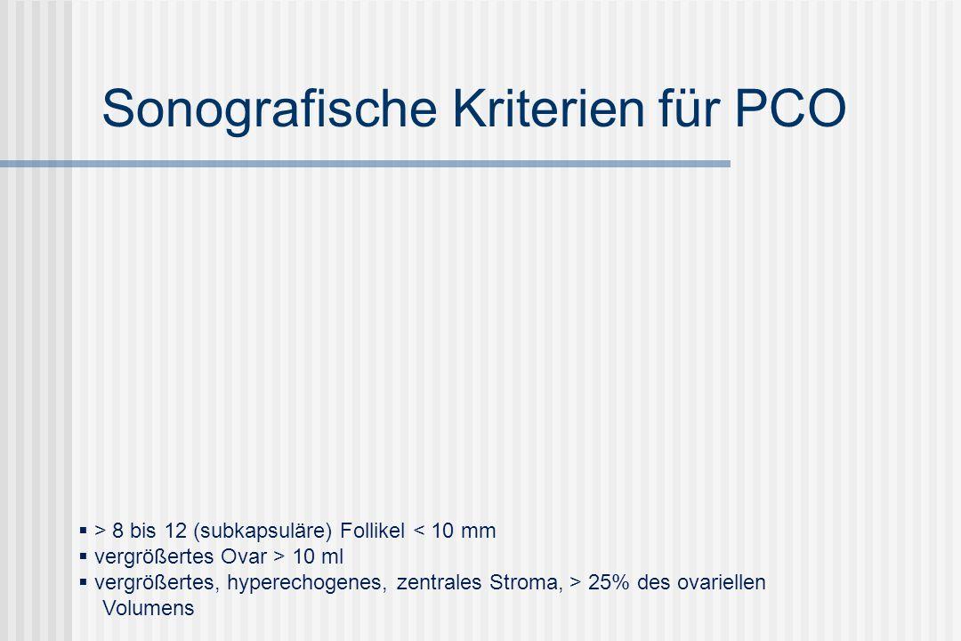 Ultraschall bei polyzystischen Ovarien Voraussetzungen für interpretierbare Ovarsonografie: 3.-5.