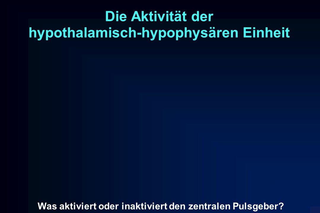 Die Aktivität der hypothalamisch-hypophysären Einheit Was aktiviert oder inaktiviert den zentralen Pulsgeber?