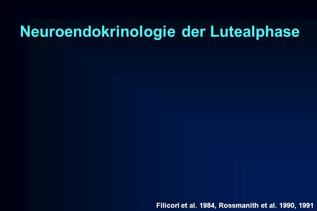 Neuroendokrinologie der Lutealphase Filicori et al. 1984, Rossmanith et al. 1990, 1991