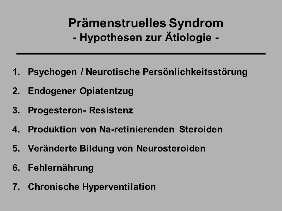 Prämenstruelles Syndrom - Hypothesen zur Ätiologie - 1.