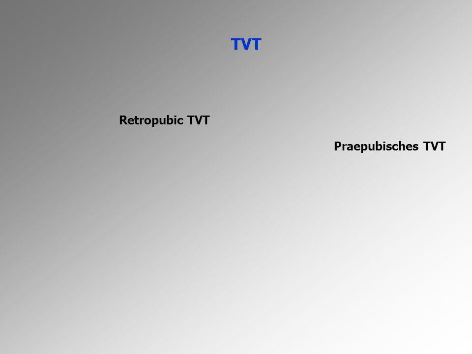 TVT Retropubic TVT Praepubisches TVT