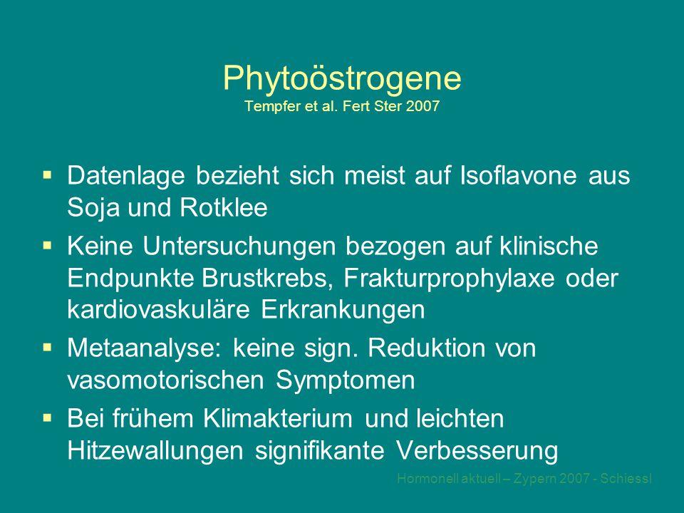 Hormonell aktuell – Zypern 2007 - Schiessl Phytoöstrogene Tempfer et al.