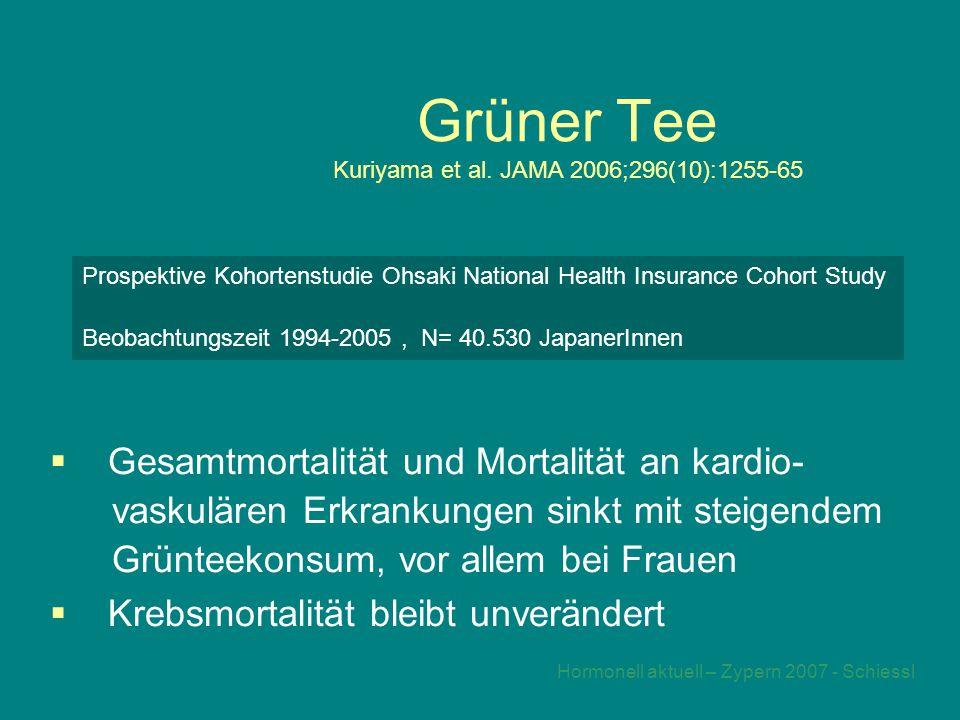 Hormonell aktuell – Zypern 2007 - Schiessl Grüner Tee Kuriyama et al.