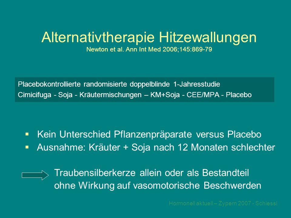 Hormonell aktuell – Zypern 2007 - Schiessl Alternativtherapie Hitzewallungen Newton et al.