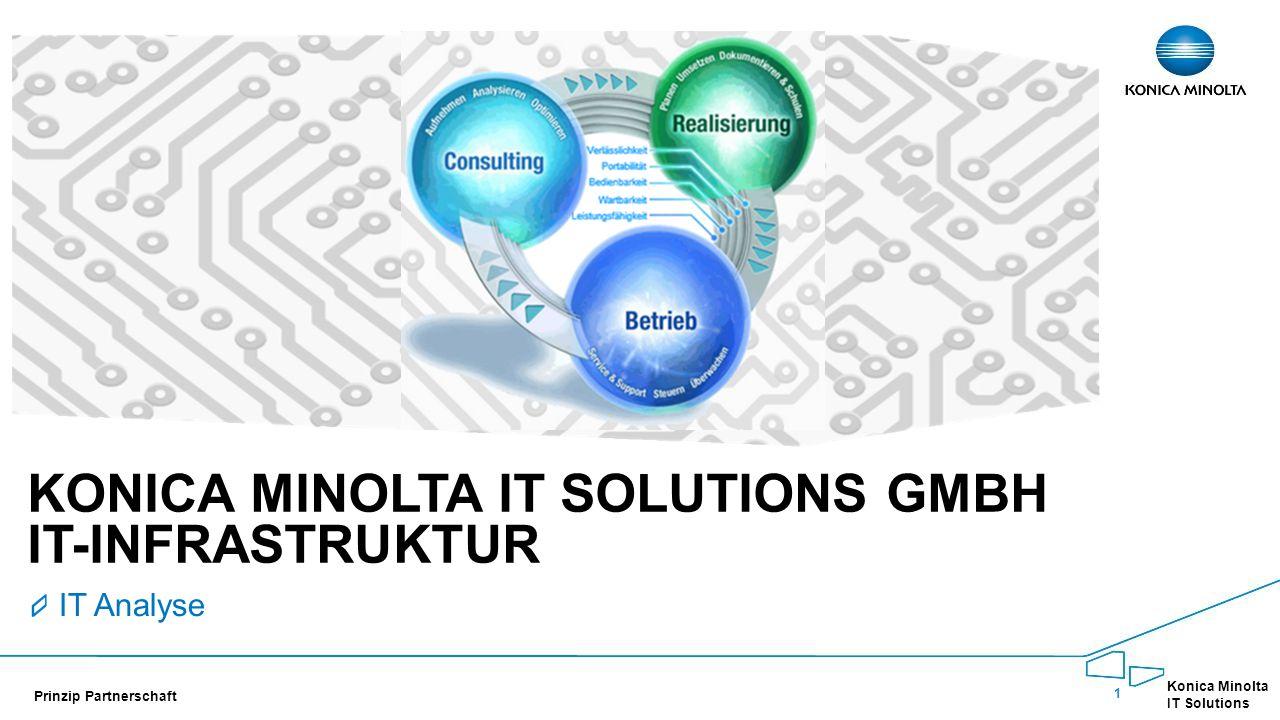 12 Konica Minolta IT Solutions Prinzip Partnerschaft ANALYSE TOOLS Welche Tools werden eingesetzt?