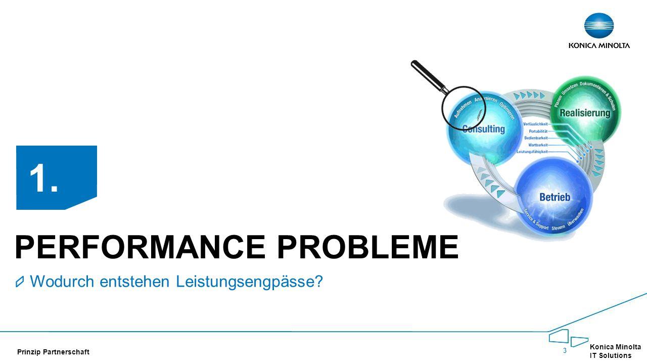 3 Konica Minolta IT Solutions Prinzip Partnerschaft PERFORMANCE PROBLEME Wodurch entstehen Leistungsengpässe.