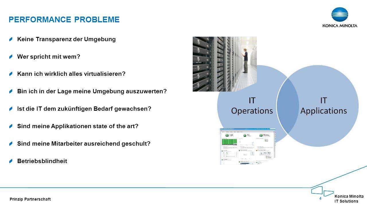 5 Konica Minolta IT Solutions Prinzip Partnerschaft ANALYSE Wie identifiziere ich Leistungsengpässe?