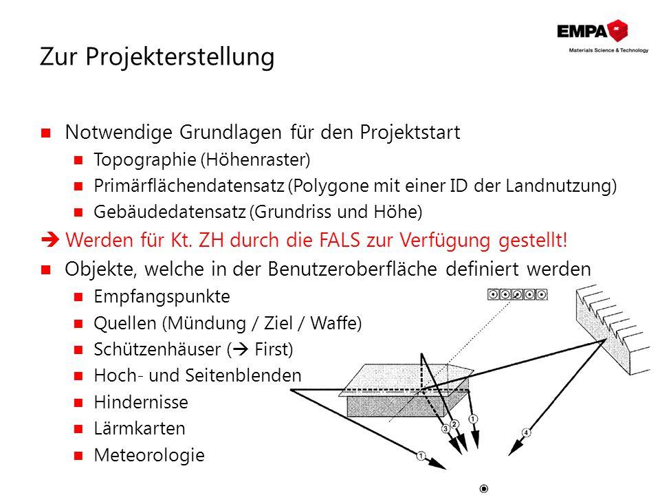Zur Projekterstellung Notwendige Grundlagen für den Projektstart Topographie (Höhenraster) Primärflächendatensatz (Polygone mit einer ID der Landnutzu