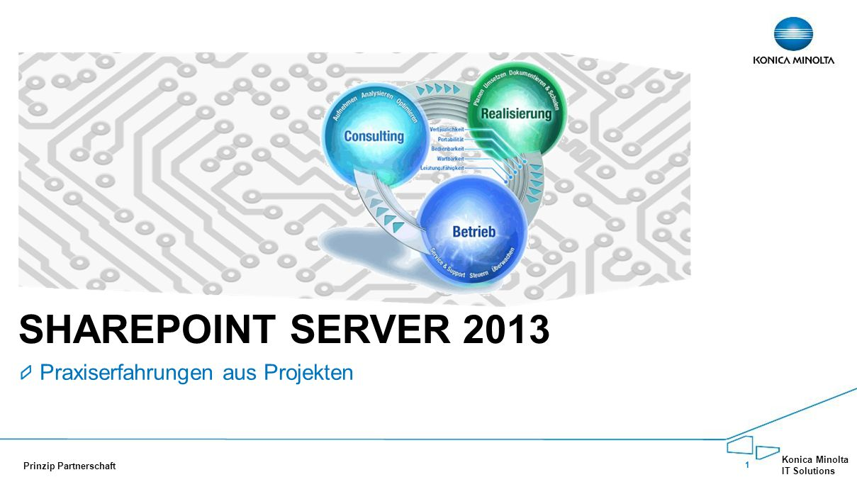 12 Konica Minolta IT Solutions Prinzip Partnerschaft INITIALISIERUNGSPHASE Hier geht's ans Eingemachte!!.
