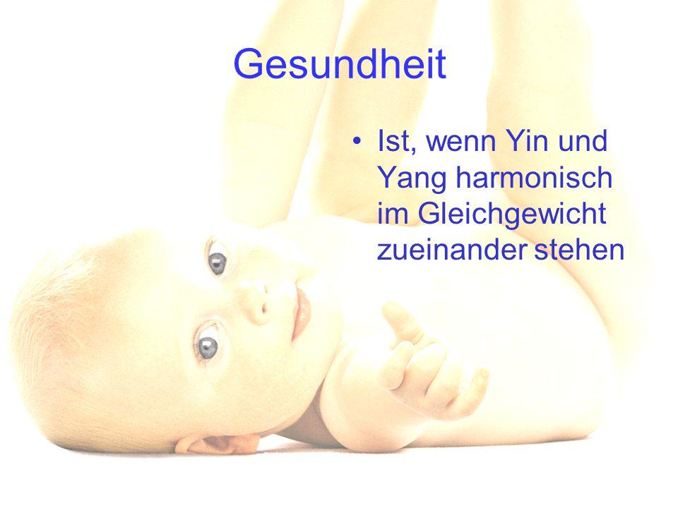 Gesundheit Ist, wenn Yin und Yang harmonisch im Gleichgewicht zueinander stehen