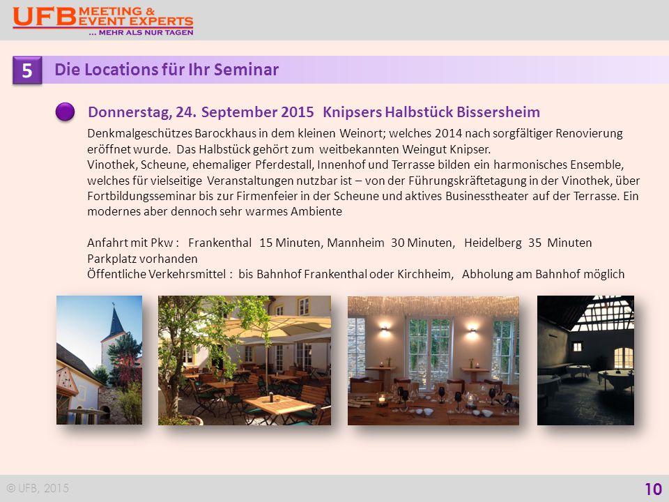 © UFB, 2015 11 Ihr Wegweiser nach Bockenheim Schlossgut Janson Schlossweg 8 67278 Bockenheim/Weinstraße Telefon 0 63 59/41 48