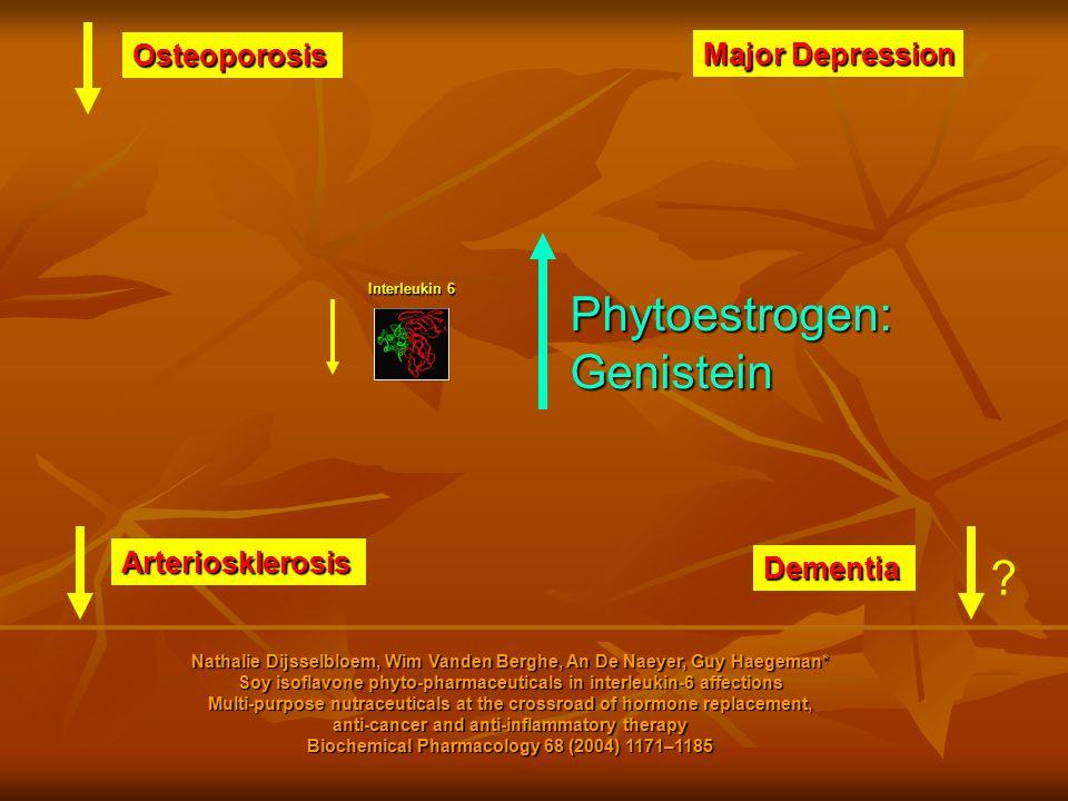 Interleukin 6 Osteoporosis Major Depression Arteriosklerosis Dementia Nathalie Dijsselbloem, Wim Vanden Berghe, An De Naeyer, Guy Haegeman* Soy isofla