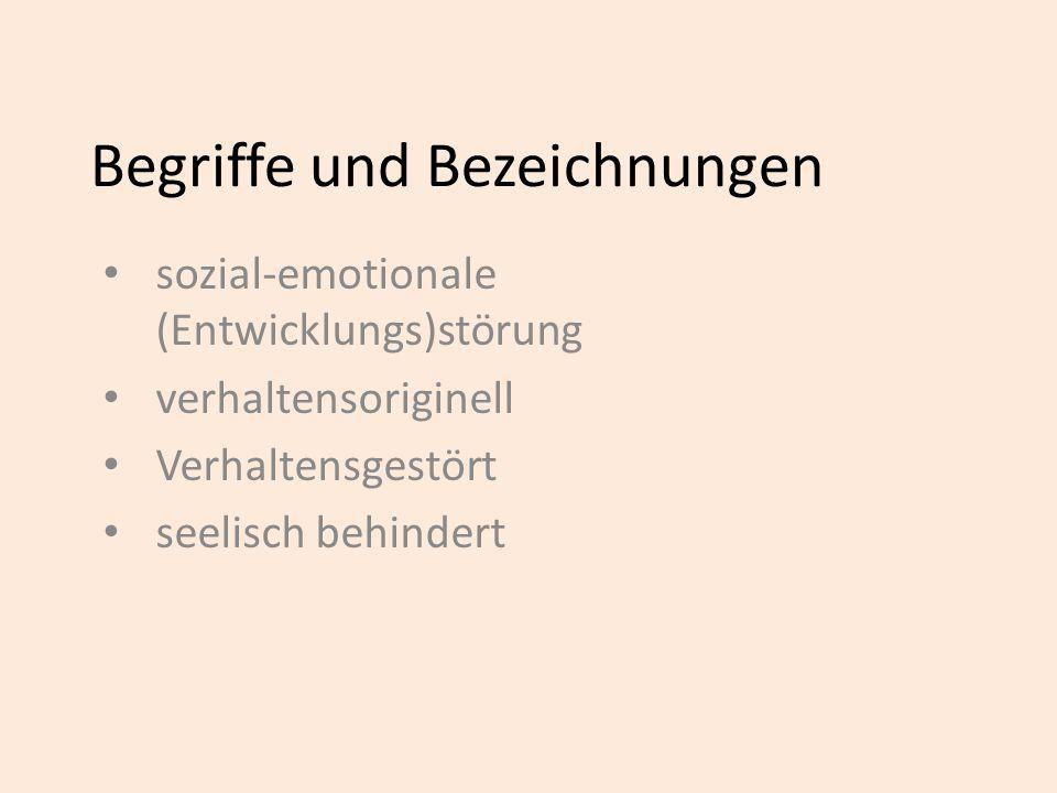 Sozial-emotionale Störungen Probleme im Kind Probleme in der Familie Probleme im Umfeld Dr.