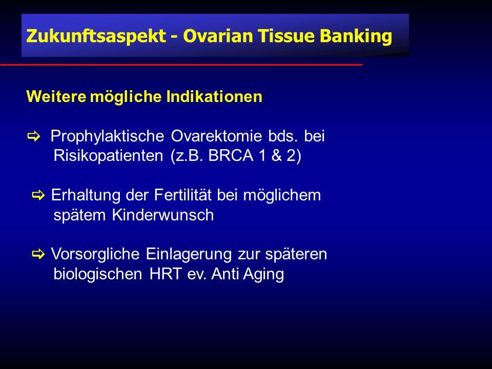 Weitere mögliche Indikationen  Prophylaktische Ovarektomie bds.