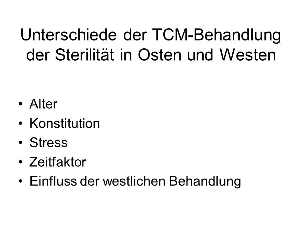 Unterschiede der TCM-Behandlung der Sterilität in Osten und Westen Alter Konstitution Stress Zeitfaktor Einfluss der westlichen Behandlung