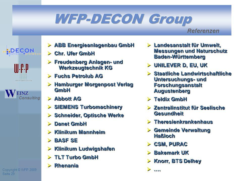Copyright © WFP 2009 Seite 29  ABB Energieanlagenbau GmbH  Chr.