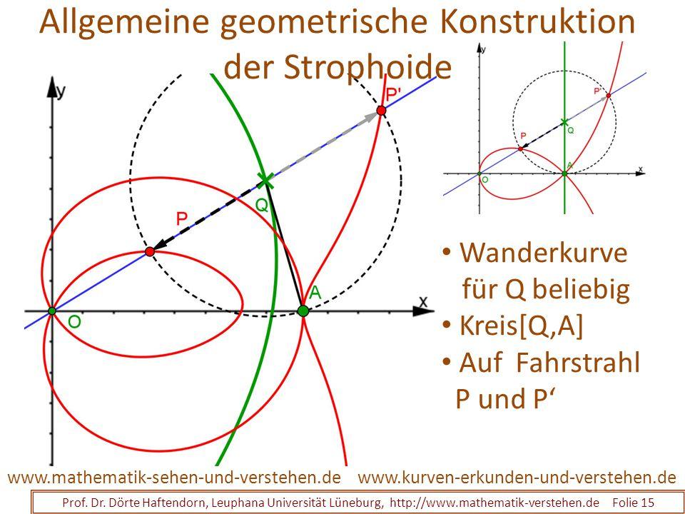 Prof. Dr. Dörte Haftendorn, Leuphana Universität Lüneburg, http://www.mathematik-verstehen.de Folie 15 www.kurven-erkunden-und-verstehen.dewww.mathema