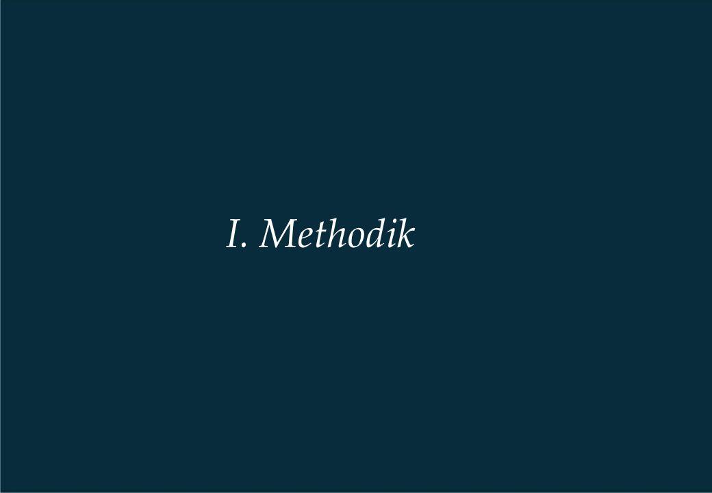 I. Methodik