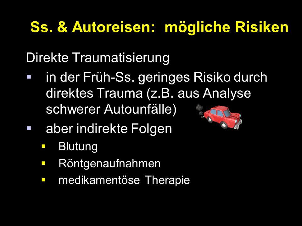 Ss.& Autoreisen: mögliche Risiken Direkte Traumatisierung  in der Früh-Ss.