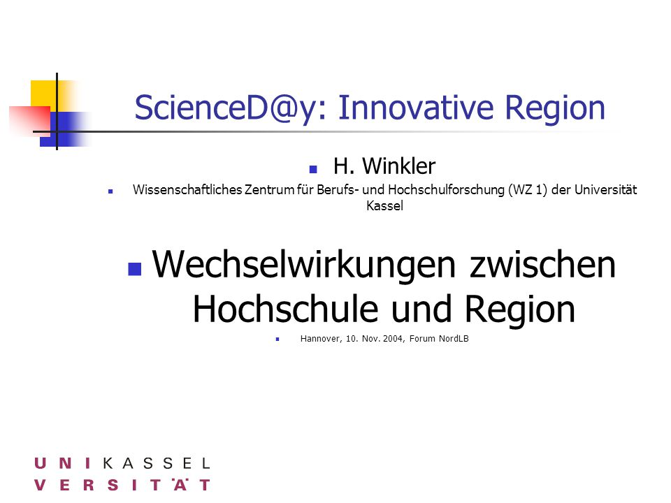 ScienceD@y: Innovative Region H.
