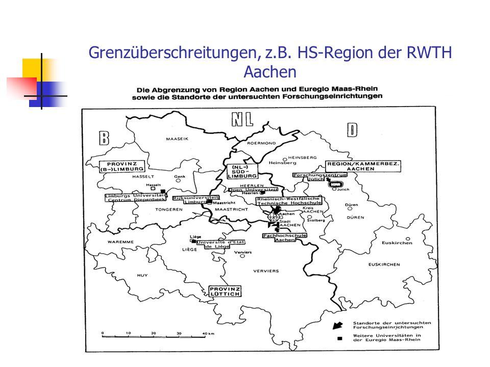 """Neue Grenzziehungen für """"Hochschulregionen"""" Kuklinski´s """"Traum"""" für den Osten Europas (Qelle: KBN/ EUROREG: Science, Technology, Economy; Warsaw 1994)"""
