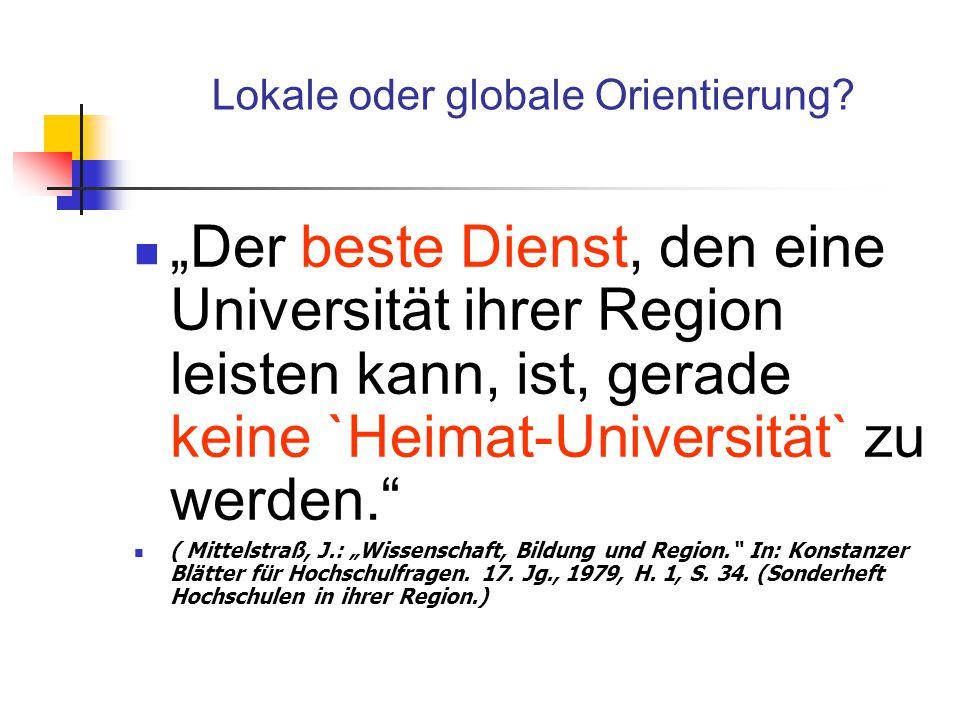 Erträge Rechtfertigung von (gefallenen) Standortentscheidungen Nachweis positiver (ökonomischer, sozialer und kultureller) Wechselwirkungen mit der HS