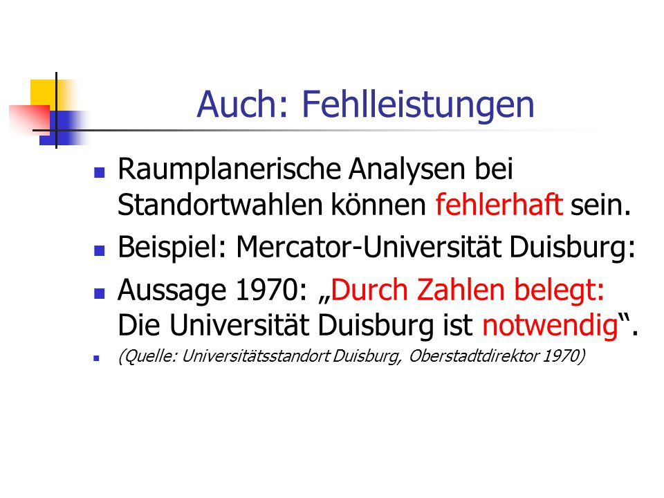 Sonderfall : Traditionelle Hochschule in der Stadt