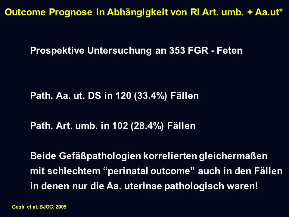 Prospektive Untersuchung an 353 FGR - Feten Path.Aa.