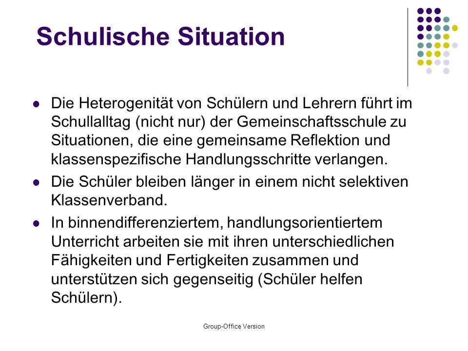 Group-Office Version Pädagogischer Baustein: Binnendifferenzierung
