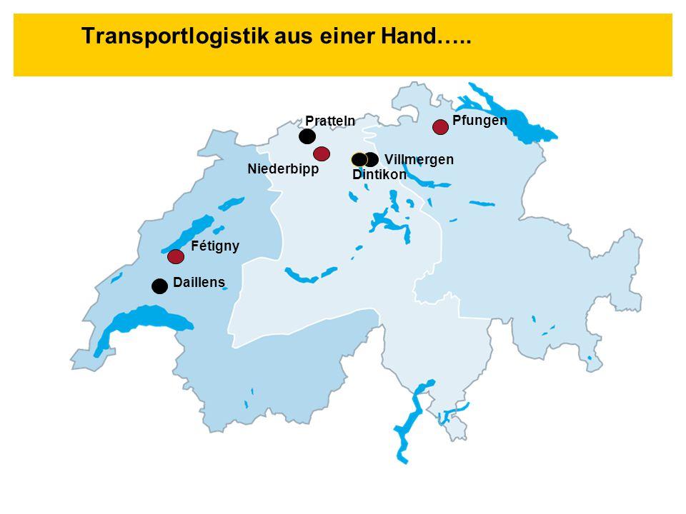 Transportlogistik aus einer Hand….. Villmergen Daillens Niederbipp Pfungen Pratteln Dintikon Fétigny