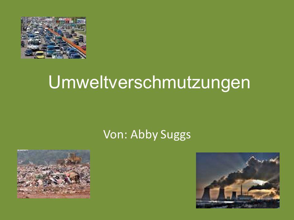 Arten der Umweltverschmutzung Es gibt viele verschiedene Formen der Umweltverschmutzung.